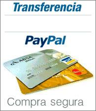 Formas de pago aceptadas: Transferencia/ingreso bancario y PayPal